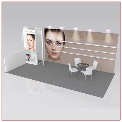 10x20 Trade Show Booth Rental Package 220 Angle View - LV Exhibit Rentals in Las Vegas