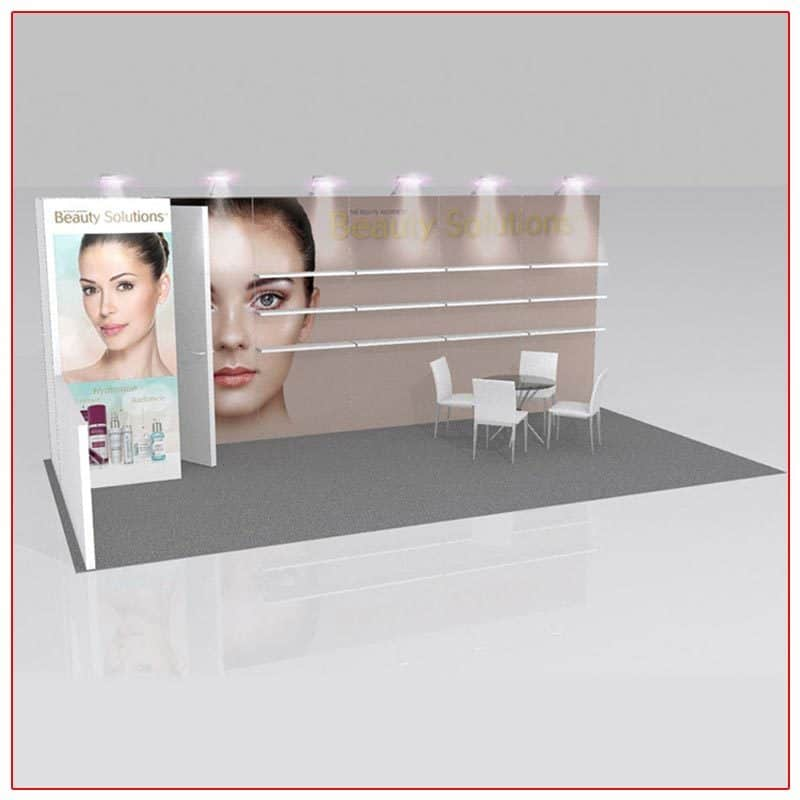 10x20 Trade Show Booth Rental Package 220 - LV Exhibit Rentals in Las Vegas