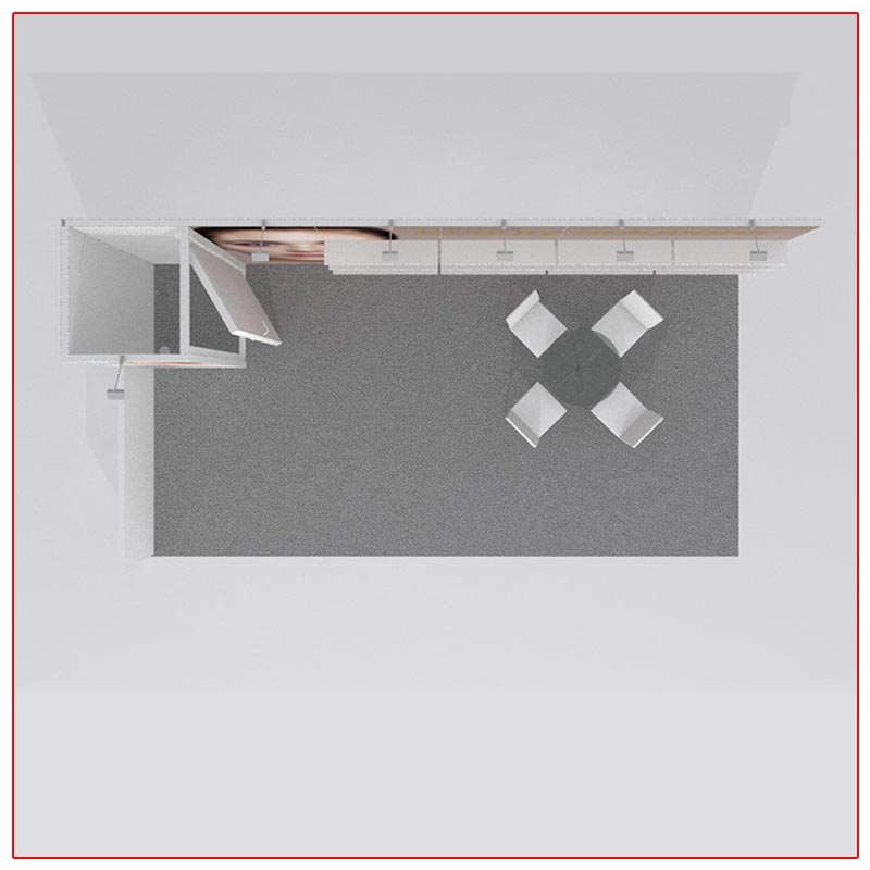10x20 Trade Show Booth Rental Package 220 Top-Down View - LV Exhibit Rentals in Las Vegas