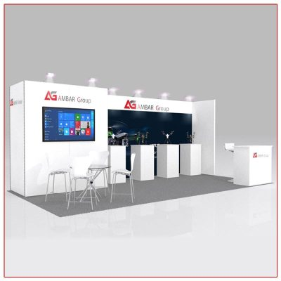 10x20 Trade Show Booth Rental Package 221 - LV Exhibit Rentals in Las Vegas