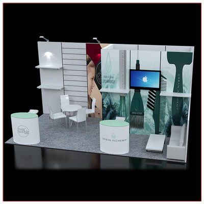 10x20 Trade Show Booth Rental Package 222 Angle View - LV Exhibit Rentals in Las Vegas