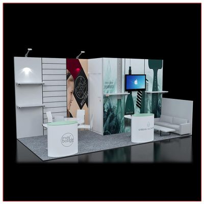 10x20 Trade Show Booth Rental Package 222 - LV Exhibit Rentals in Las Vegas