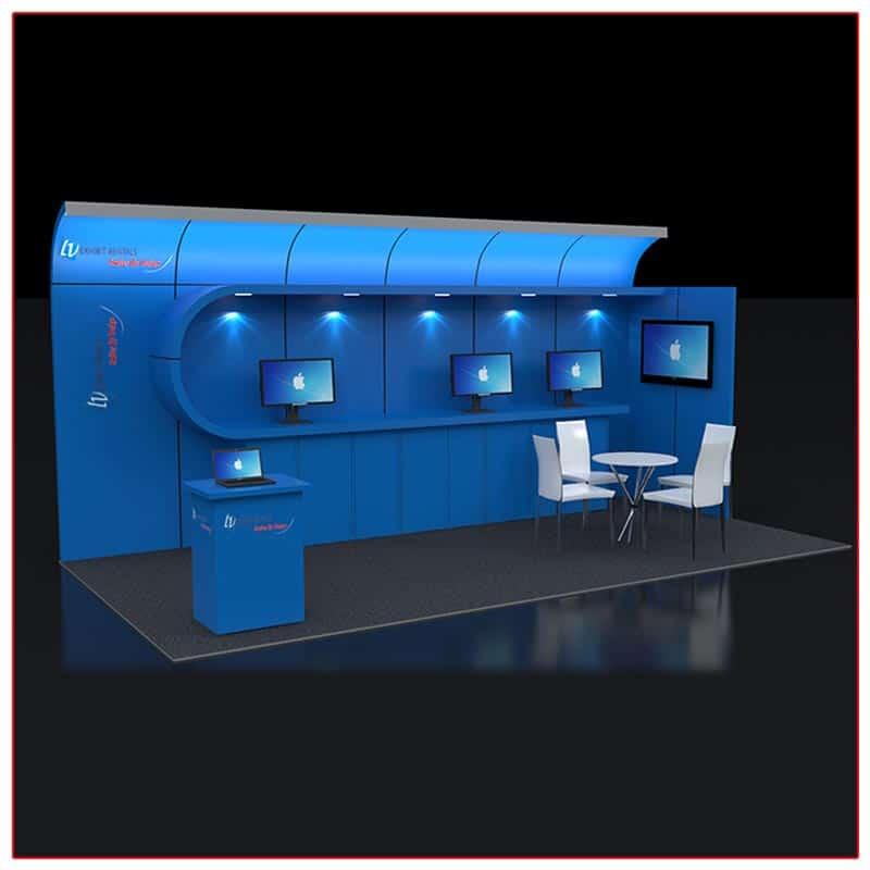 10x20 Trade Show Booth Rental Package 223 - LV Exhibit Rentals in Las Vegas