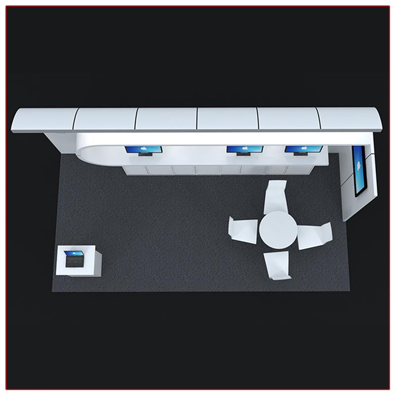 10x20 Trade Show Booth Rental Package 223 Top-Down View - LV Exhibit Rentals in Las Vegas