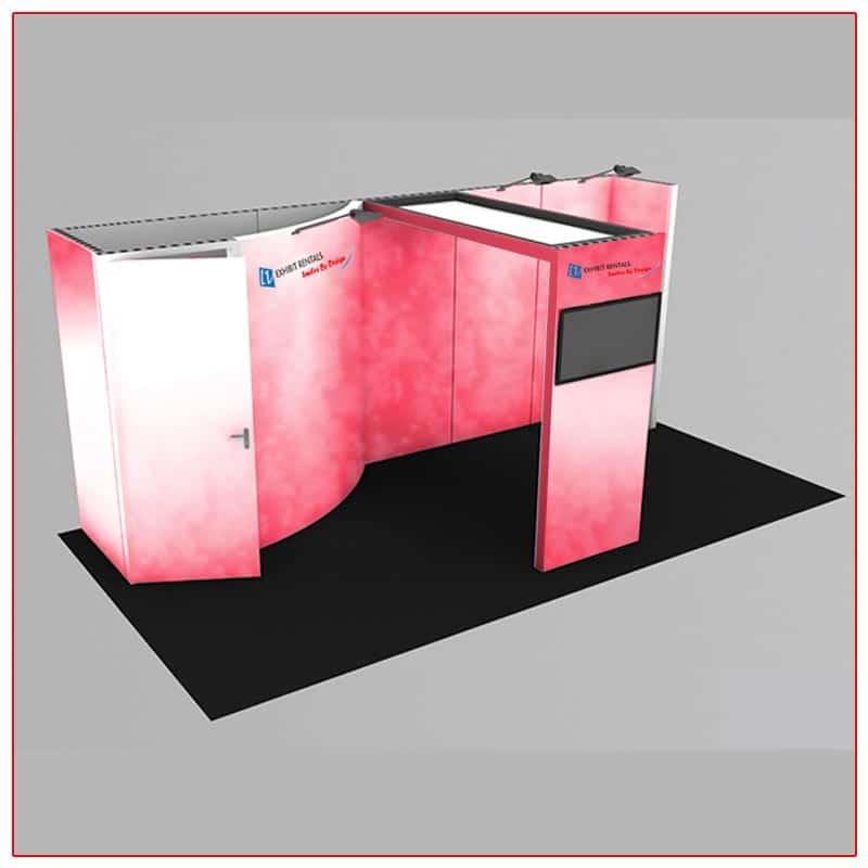 10x20 Trade Show Booth Rental Package 224 - LV Exhibit Rentals in Las Vegas