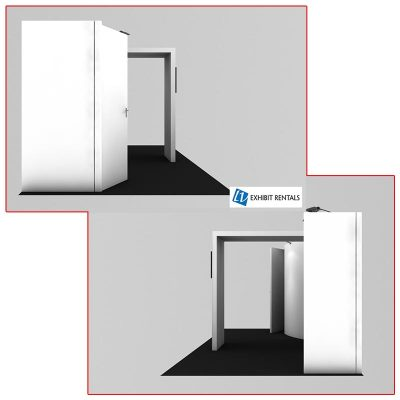 10x20 Trade Show Booth Rental Package 224 Side Views - LV Exhibit Rentals in Las Vegas