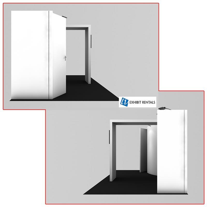 10x20 Trade Show Booth Rental Package 224 Side Views - LV Exhibit Rentals in Las Vegas