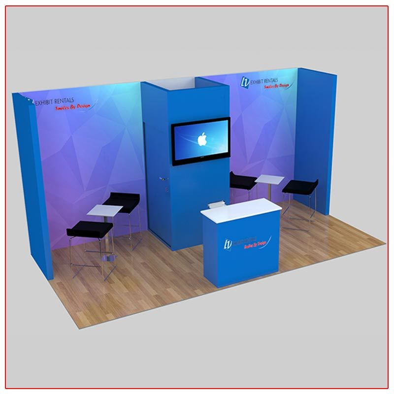 10x20 Trade Show Booth Rental Package 225 - LV Exhibit Rentals in Las Vegas