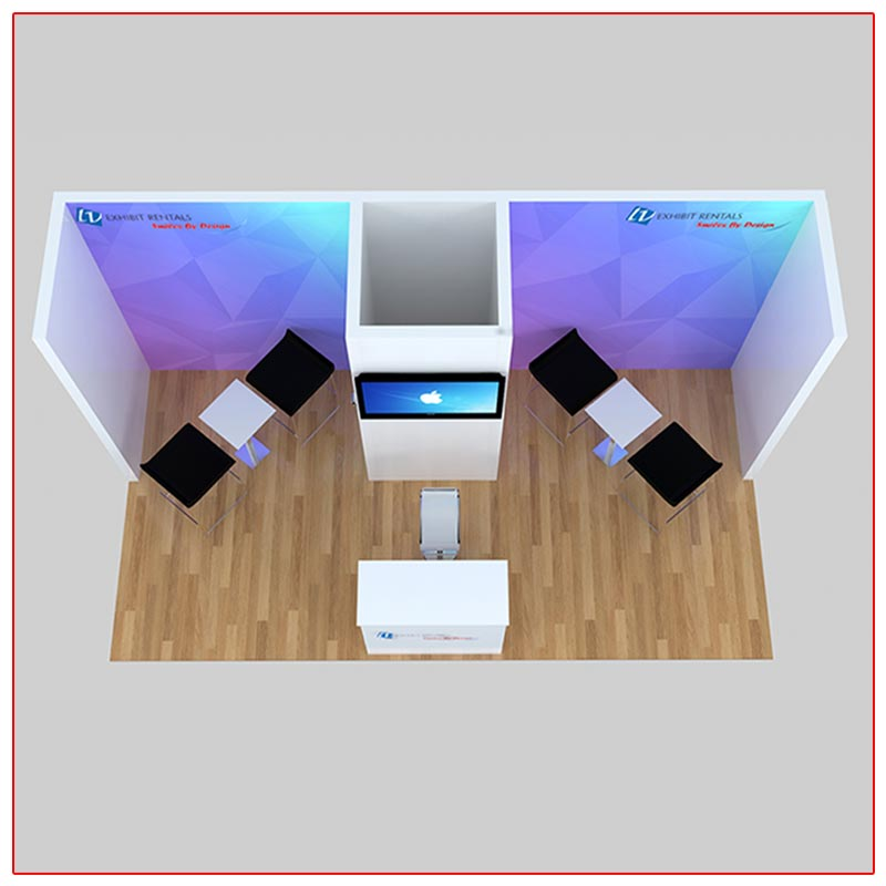 10x20 Trade Show Booth Rental Package 225 Top-Down View - LV Exhibit Rentals in Las Vegas