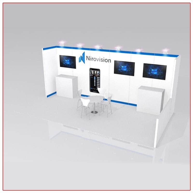 10x20 Trade Show Booth Rental Package 226 Angle View - LV Exhibit Rentals in Las Vegas