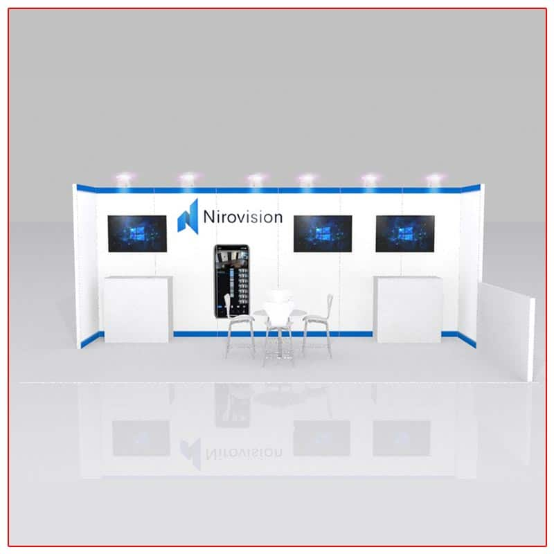 10x20 Trade Show Booth Rental Package 226 Front View - LV Exhibit Rentals in Las Vegas