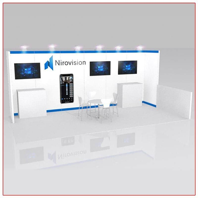 10x20 Trade Show Booth Rental Package 226 - LV Exhibit Rentals in Las Vegas
