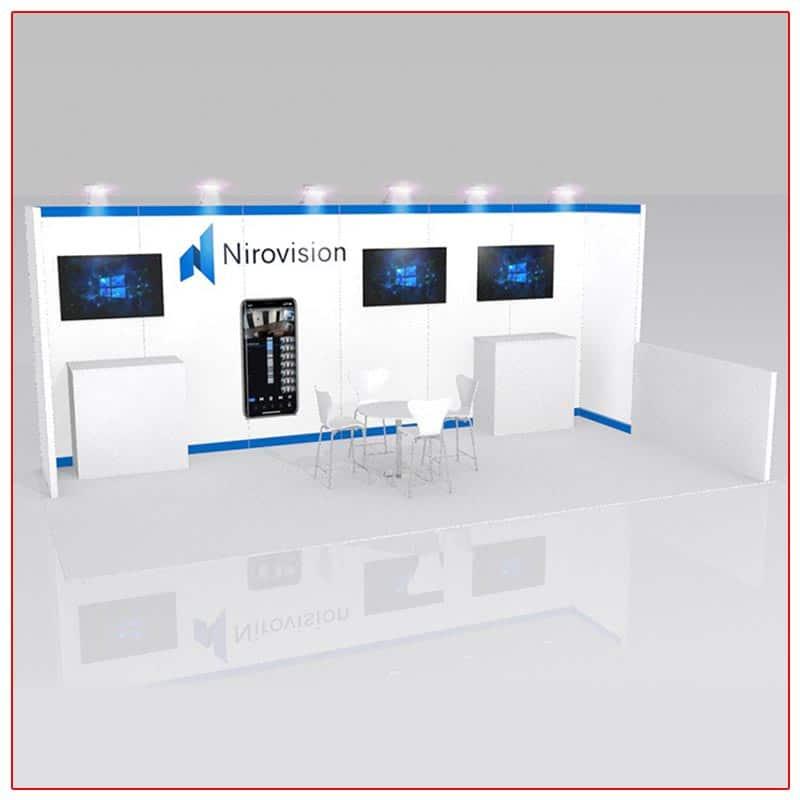 10x20 Trade Show Booth Rental Package 226 - LV Exhibit Rentals in Las Vegas