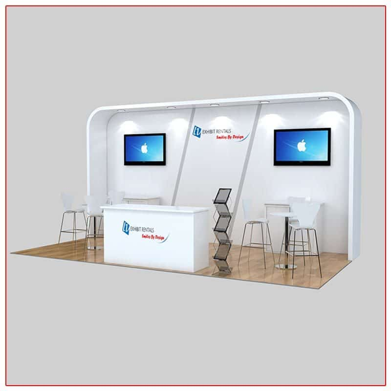 10x20 Trade Show Booth Rental Package 227 Angle View - LV Exhibit Rentals in Las Vegas