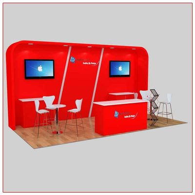 10x20 Trade Show Booth Rental Package 227 - LV Exhibit Rentals in Las Vegas