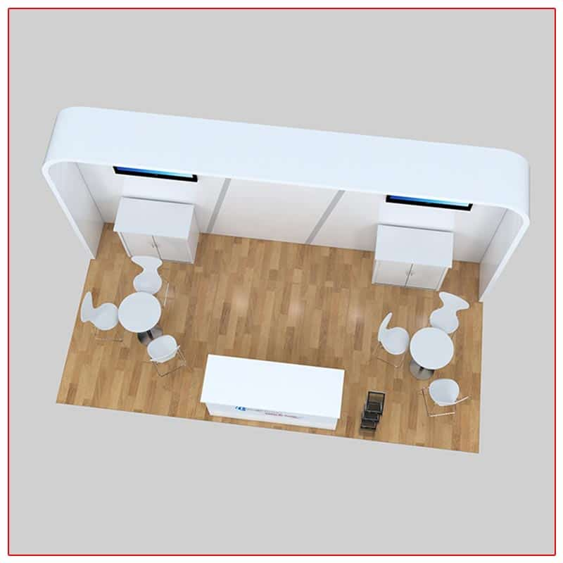 10x20 Trade Show Booth Rental Package 227 Top-Down View - LV Exhibit Rentals in Las Vegas
