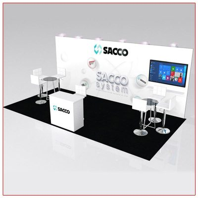 10x20 Trade Show Booth Rental Package 228 - LV Exhibit Rentals in Las Vegas