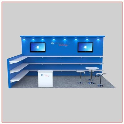 10x20 Trade Show Booth Rental Package 229 Front - LV Exhibit Rentals in Las Vegas