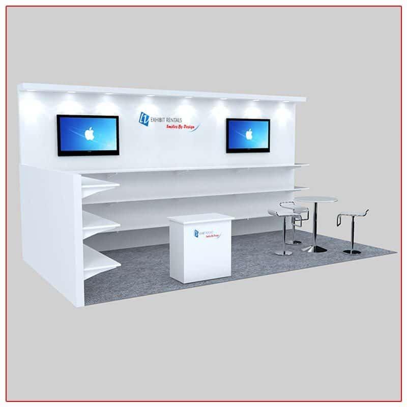 10x20 Trade Show Booth Rental Package 229 - LV Exhibit Rentals in Las Vegas