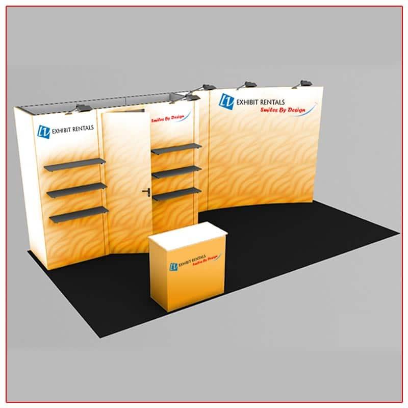 10x20 Trade Show Booth Rental Package 230 - LV Exhibit Rentals in Las Vegas