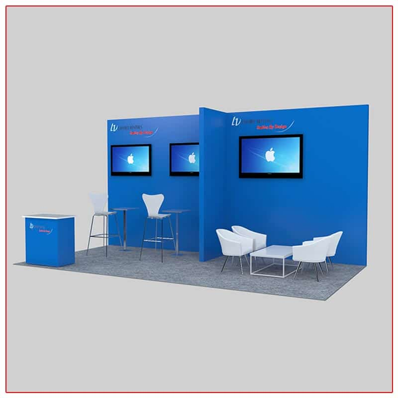 10x20 Trade Show Booth Rental Package 231 - LV Exhibit Rentals in Las Vegas