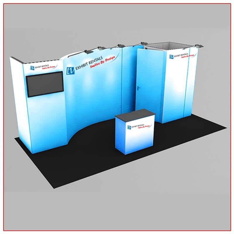 10x20 Trade Show Booth Rental Package 232 - LV Exhibit Rentals in Las Vegas