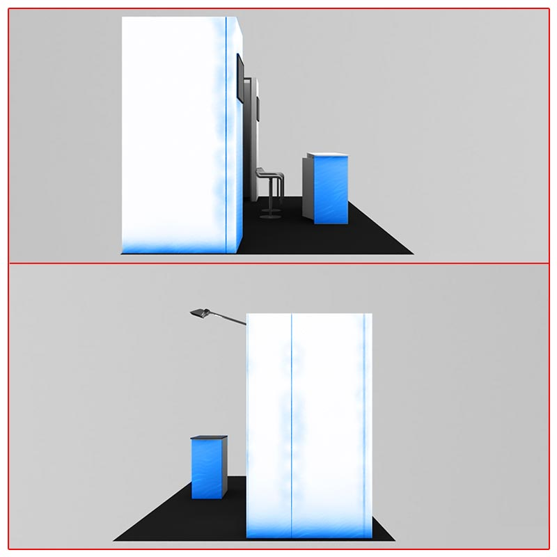 10x20 Trade Show Booth Rental Package 232 Side View - LV Exhibit Rentals in Las Vegas