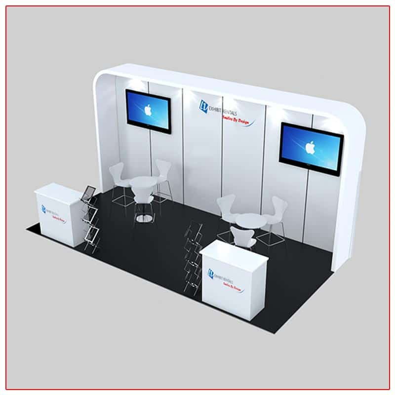 10x20 Trade Show Booth Rental Package 235 Angle View - LV Exhibit Rentals in Las Vegas