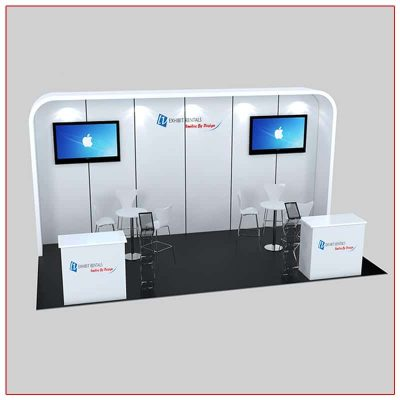 10x20 Trade Show Booth Rental Package 235 Front Angle View - LV Exhibit Rentals in Las Vegas
