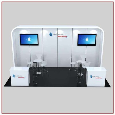 10x20 Trade Show Booth Rental Package 235 Front View - LV Exhibit Rentals in Las Vegas