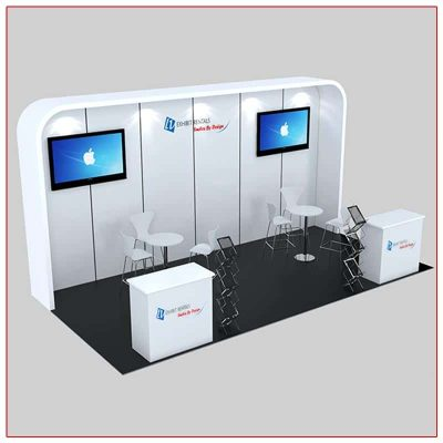 10x20 Trade Show Booth Rental Package 235 - LV Exhibit Rentals in Las Vegas