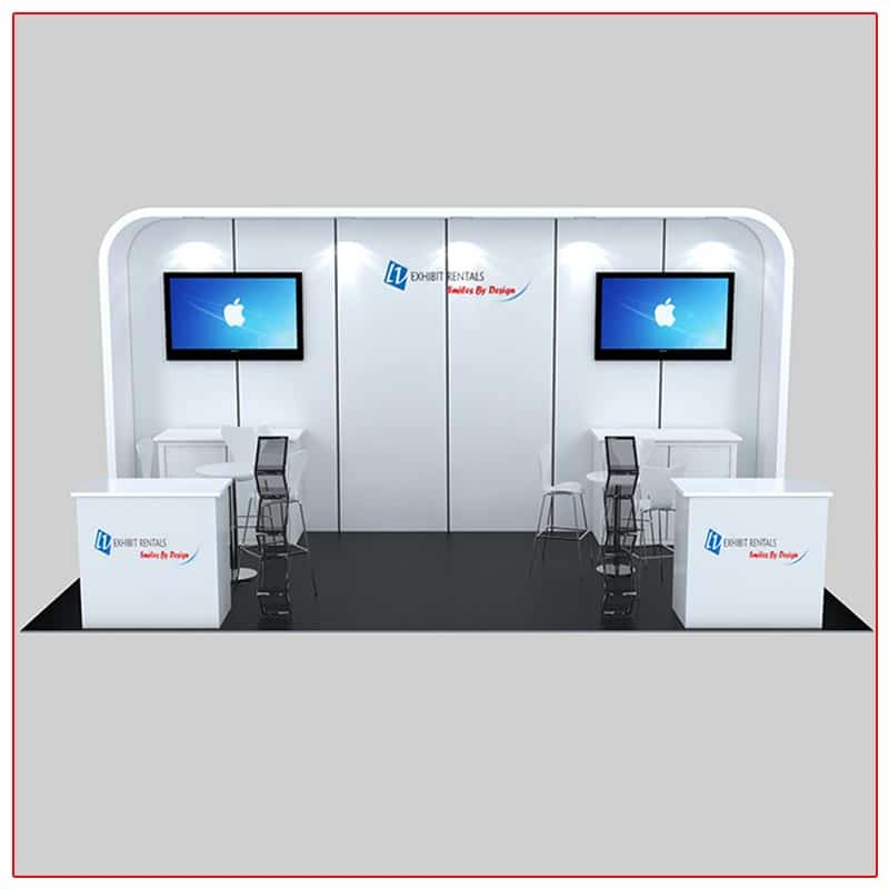 10x20 Trade Show Booth Rental Package 235A Front View - LV Exhibit Rentals in Las Vegas
