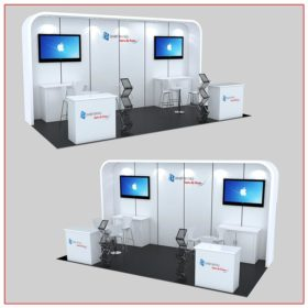 10x20 Trade Show Booth Rental Package 235A - LV Exhibit Rentals in Las Vegas