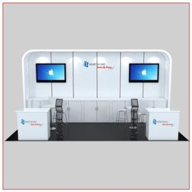 10x20 Trade Show Booth Rental Package 235B Front View - LV Exhibit Rentals in Las Vegas