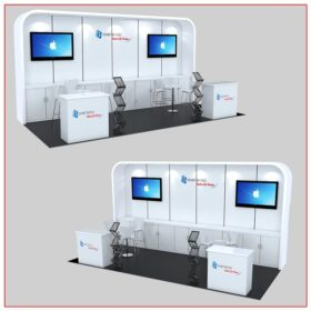 10x20 Trade Show Booth Rental Package 235B - LV Exhibit Rentals in Las Vegas