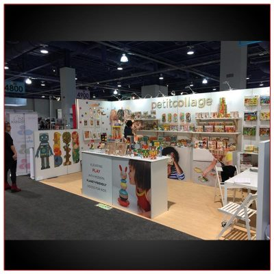 10x20 Trade Show Booth Rental Package 236 Angle View - LV Exhibit Rentals in Las Vegas