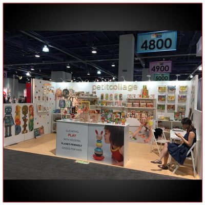 10x20 Trade Show Booth Rental Package 236 Front View - LV Exhibit Rentals in Las Vegas