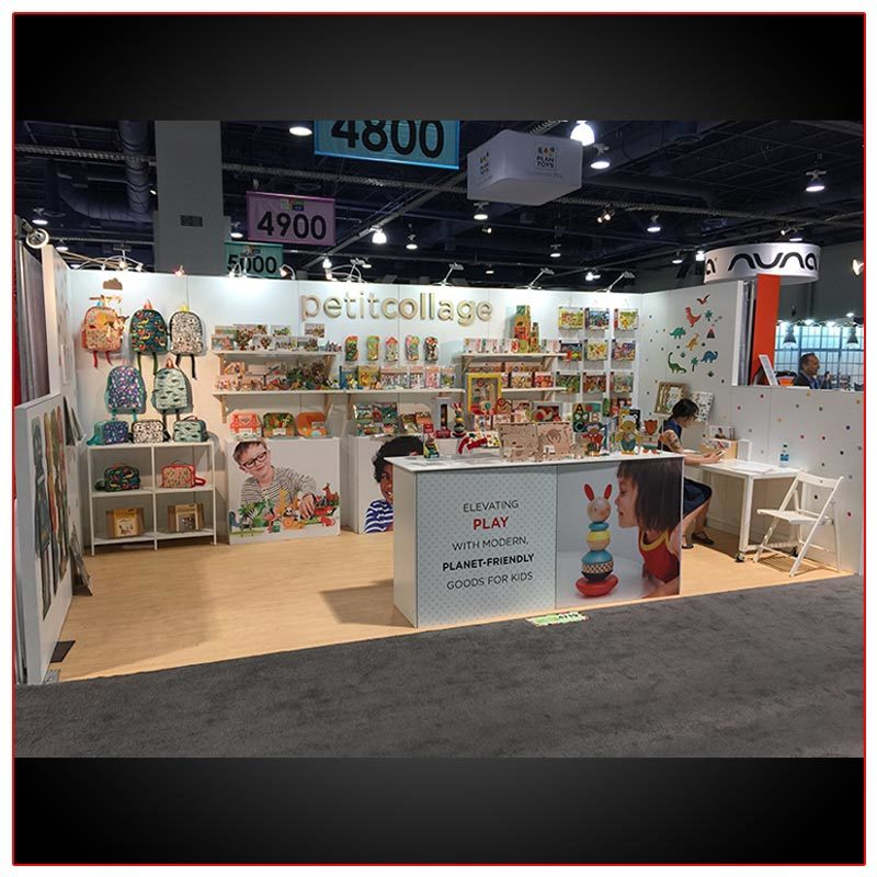10x20 Trade Show Booth Rental Package 236 - LV Exhibit Rentals in Las Vegas