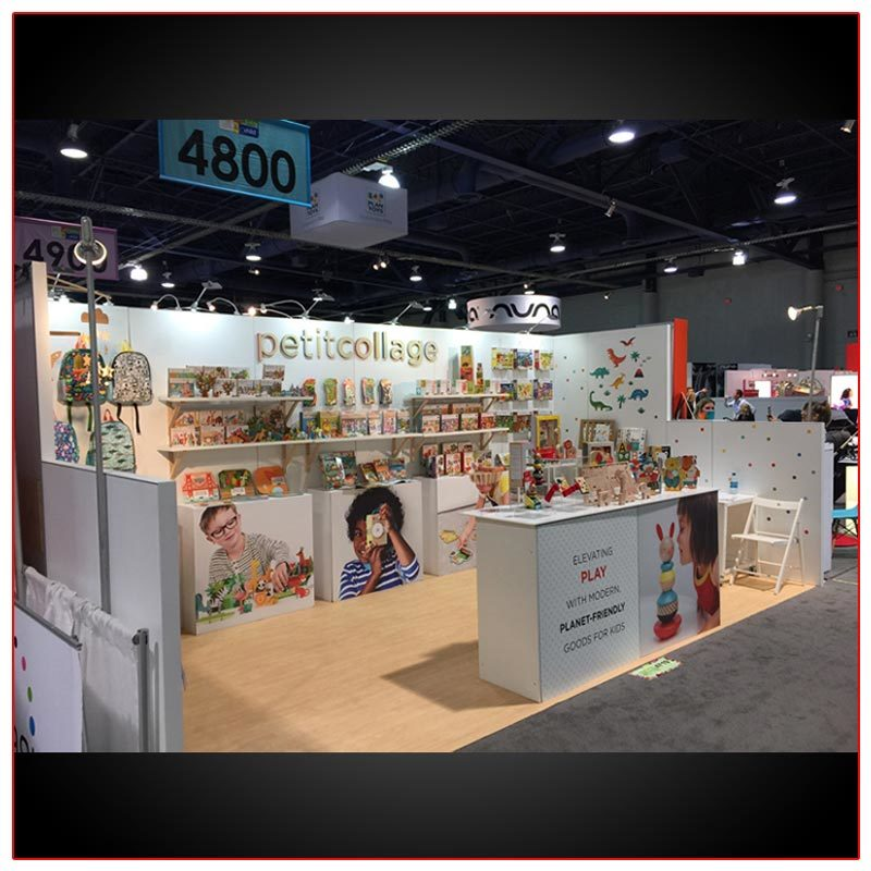 10x20 Trade Show Booth Rental Package 236 Side View - LV Exhibit Rentals in Las Vegas