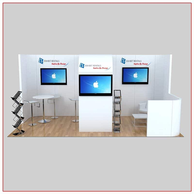 10x20 Trade Show Booth Rental Package 237 Front View - LV Exhibit Rentals in Las Vegas