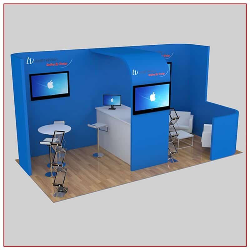 10x20 Trade Show Booth Rental Package 237 - LV Exhibit Rentals in Las Vegas