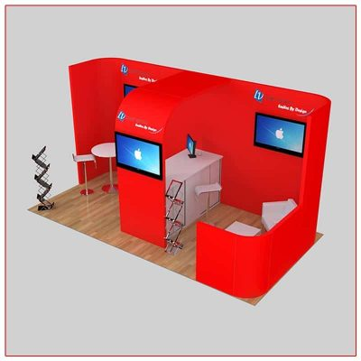 10x20 Trade Show Booth Rental Package 237 Top Angle View - LV Exhibit Rentals in Las Vegas