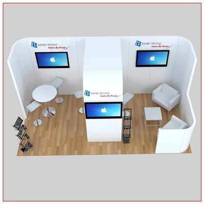 10x20 Trade Show Booth Rental Package 237 Top-Down View - LV Exhibit Rentals in Las Vegas