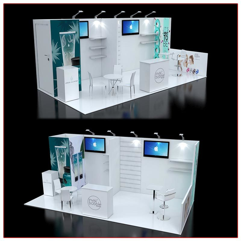 10x20 Trade Show Booth Rental Package 238 Angle Views - LV Exhibit Rentals in Las Vegas