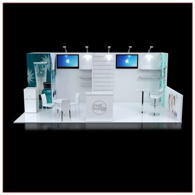 10x20 Trade Show Booth Rental Package 238 Front View - LV Exhibit Rentals in Las Vegas