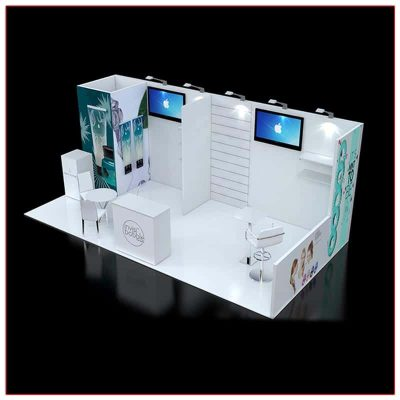 10x20 Trade Show Booth Rental Package 238 - LV Exhibit Rentals in Las Vegas