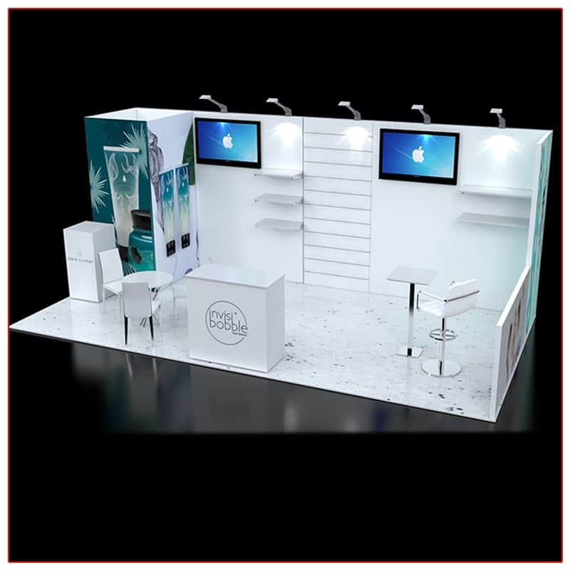 10x20 Trade Show Booth Rental Package 238A - LV Exhibit Rentals in Las Vegas