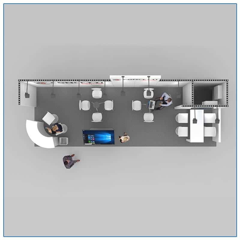 10x30 Trade Show Booth Rental Package 300 Top-Down View - LV Exhibit Rentals in Las Vegas