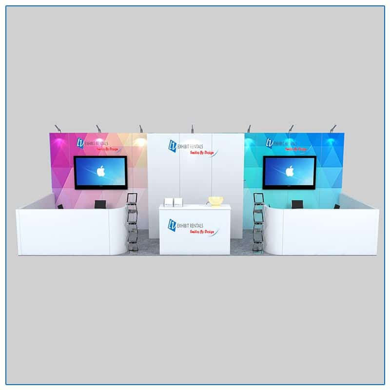 10x30 Trade Show Booth Rental Package 301 Front View - LV Exhibit Rentals in Las Vegas