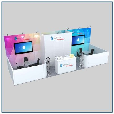 10x30 Trade Show Booth Rental Package 301 - LV Exhibit Rentals in Las Vegas
